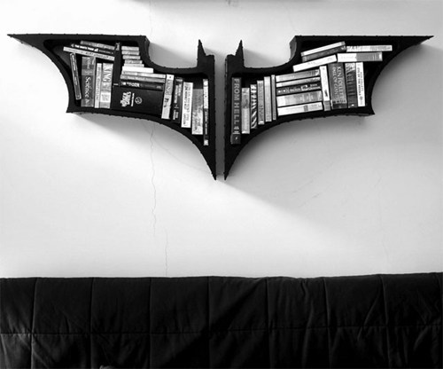Batman bookcase. http://cheezburger.com/7699779072