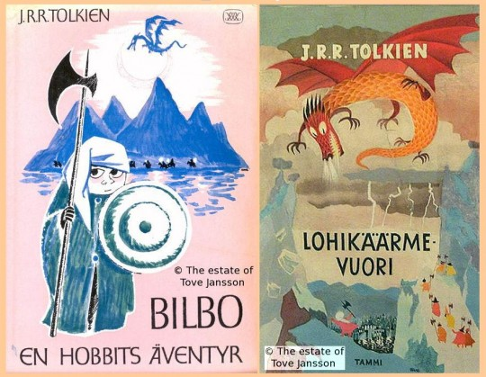 Jansson's illustrations for early Swedish and Finnish translations of The Hobbit. The estate of Tove Jansson, via Tolkien Library.