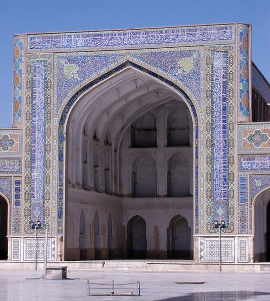 Iwan at Jama Masjid (Friday Mosque) at Herat, Afghanistan, 1446, photograph by Sven Dirks