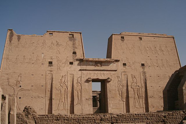 Temple of Horus, Edfu, photograph by Steve F-E Cameron via Wikimedia