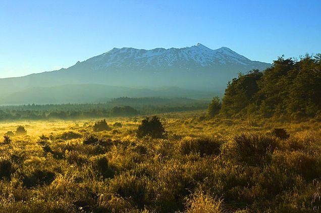 Mount Ruapehu, New Zealand via Wikimedia