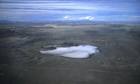 Zuñi Salt Lake, New Mexico via Airphoto