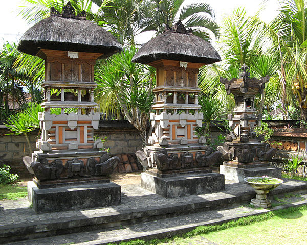 House shrines, Bali, photograph by Michael Gunther via Wikimedia