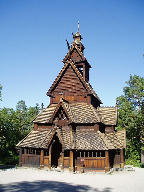 Image: Gol stave church, photograph by Steve Cadman via Wikimedia (currently Oslo, Norway; c. 1200)