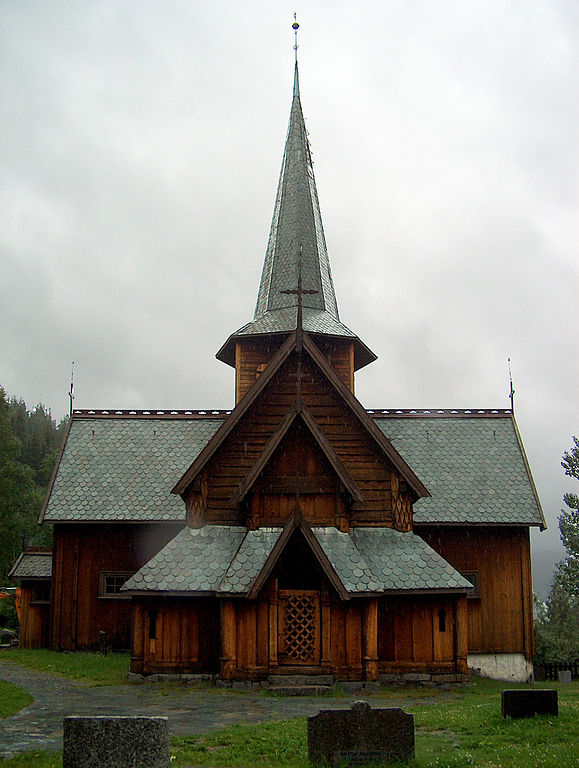 Hedal stave church, photograph by T. Bjornstad via Wikimedia (Hedal, Norway; 12th c.)
