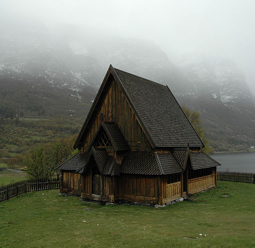 Øye stave church, photograph by J. P. Fagerback via Wikimedia (Øye, Norway; 12th c.)