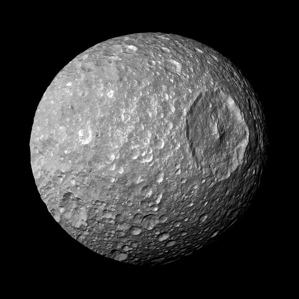 NASA Tumblr Saturns Moon Mimas