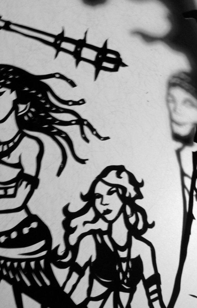 Twitter Arwen Designs Stone Monsters Papercutting Sneak Peek