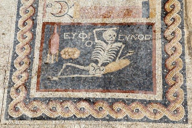 The History Blog Anadolu Agency Antakya Turkey Skeleton Mosaic