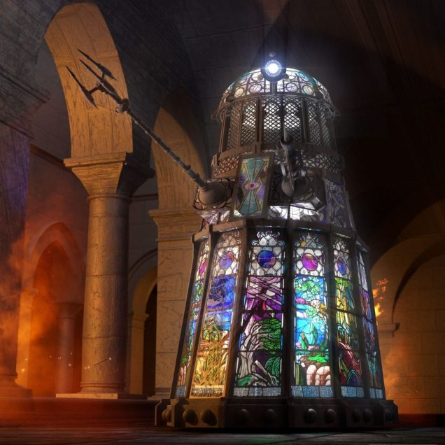 Jamie Anderson Chris Thompson Stained Glass Dalek Stainley-1050x1050