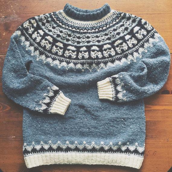 Etsy NatelaDaturaDesign Stormtrooper Sweater