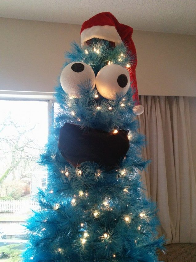 imgur enhydralutris45 Cookie Monster Christmas Tree