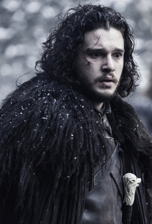 John Snow realizing he knows nothing about dressing for the cold, from Game of Thrones via IMDb
