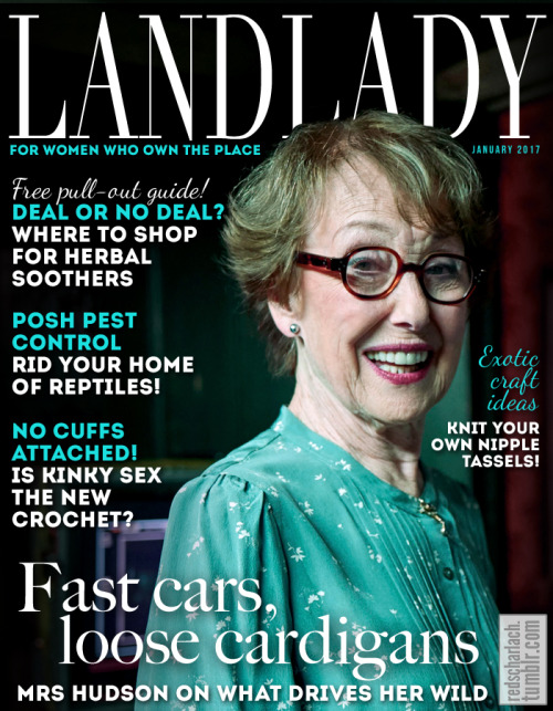 Tumblr Red Scharlach Mrs Hudson Magazine Cover