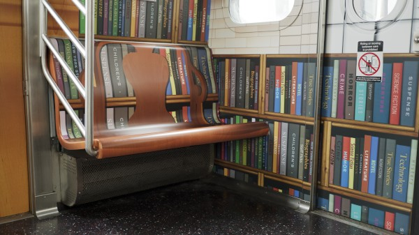 Publishers Weekly Subway Library Train Interior