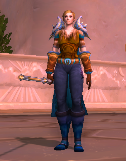 WoW Transmog Human Mistw Monk Turq Golden Brown