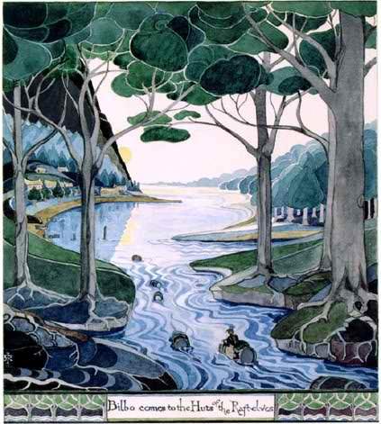 Tolkien Gateway Bilbo Comes to Huts of Raft-elves