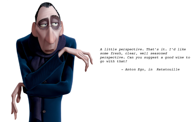 Ratatouille Anton Ego Perspective Quote