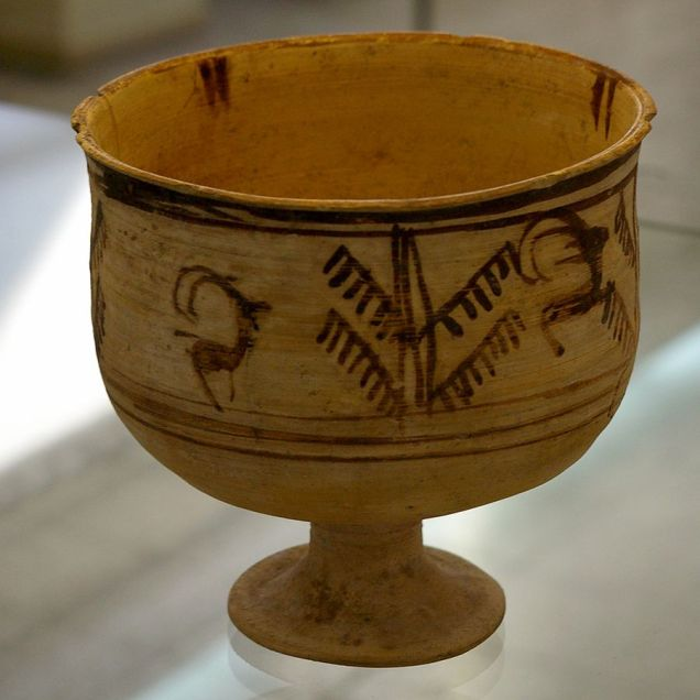 Wikimedia Burnt City Iran Clay Cup
