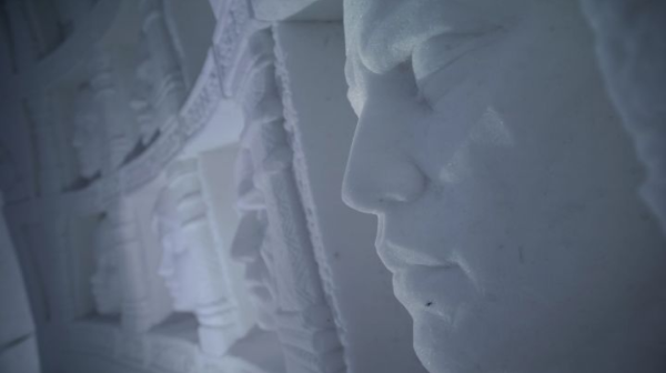 Instagram Snow Village Hall of Faces