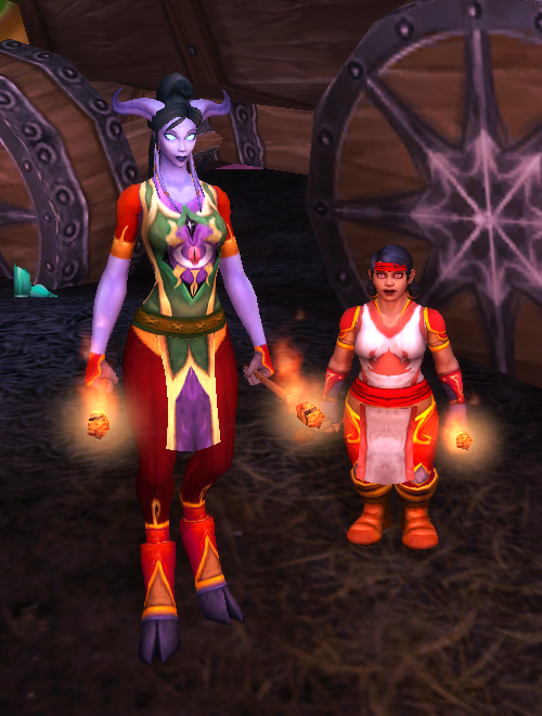 WoW Darkmoon Faire Fire Juggler Transmog Windwalker Monk