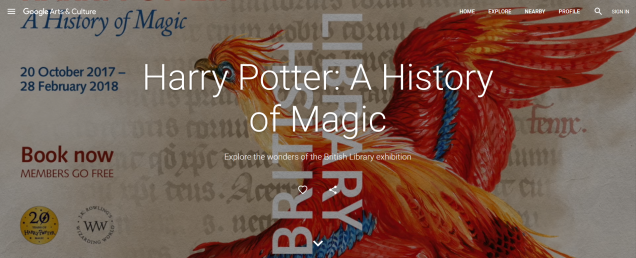 British Library Google Harry Potter A History of Magic Exhibition