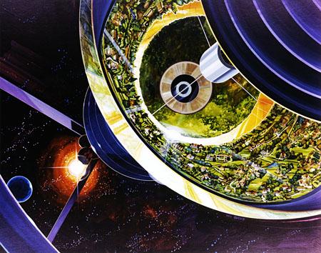NASA Ames Research Ctr AC76-1089 Rick Guidice Bernal Sphere Cutaway