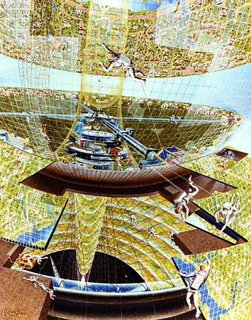 NASA Ames Research Ctr AC76-1288 Don Davis Bernal Sphere Construction