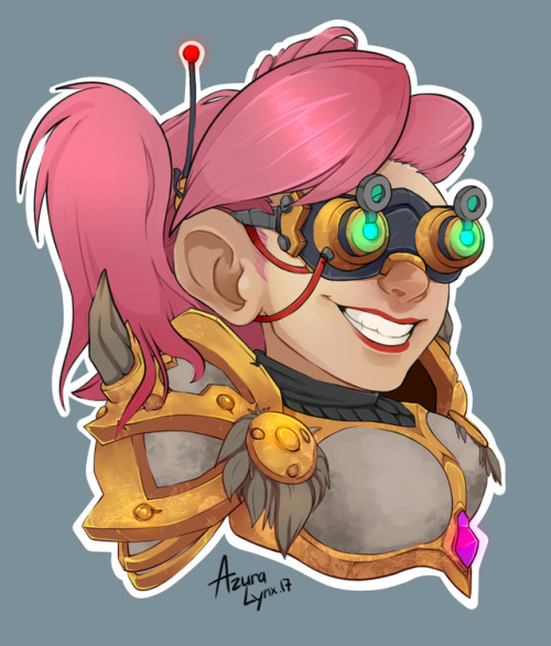 Tumblr Azuralynx Female Gnome Portrait with Goggles