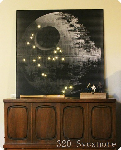 320 Sycamore Melissa DIY Death Star w LED Lights