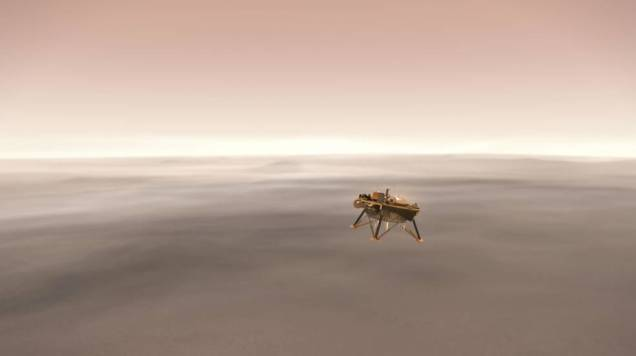 NASA JPL-Caltech Simulated InSight Landing on Mars