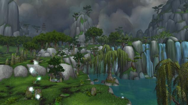 WoW Pandaria Jade Forest Serenity Falls