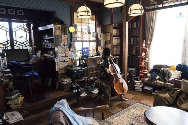 HS HBO Miss Sherlock Playing Cello