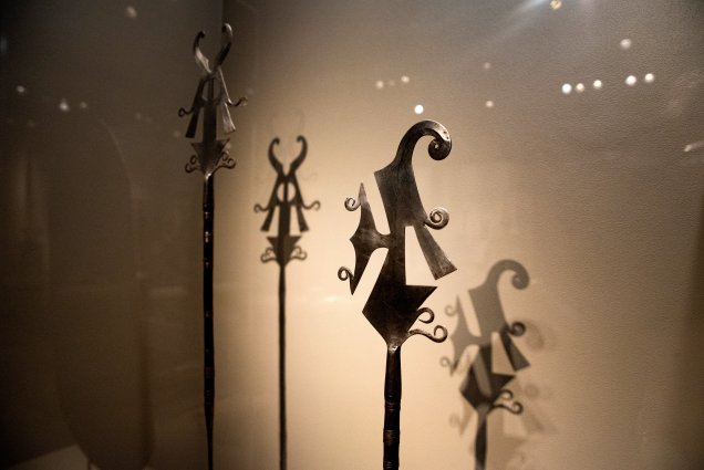 Smithsonian African Art Iron Exhibit Ceremonial Knives
