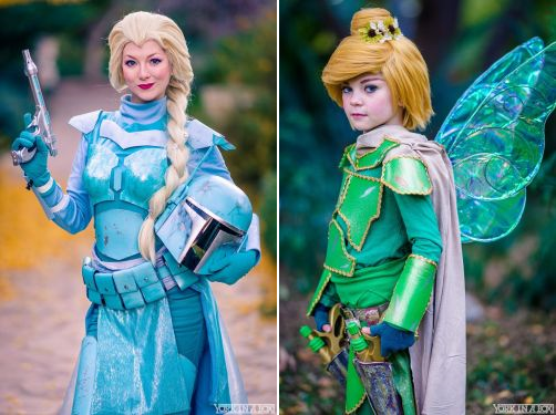 Tumblr Queens-of-Cosplay Boba Fett Elsa Tinkerbell