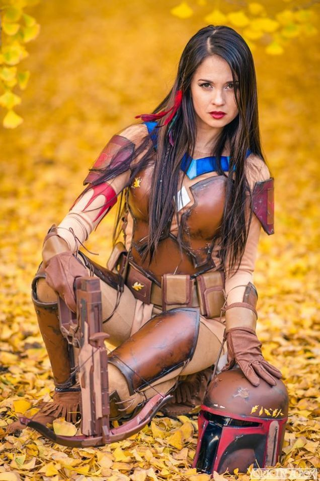 Tumblr Queens-of-Cosplay Boba Fett Pocahontas
