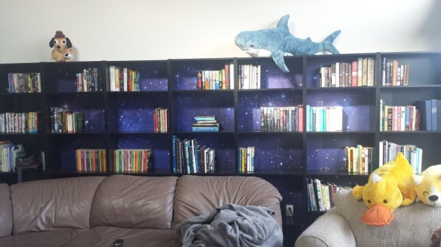 IKEAhackers Melissa Ng Space Mural Bookcase Wall