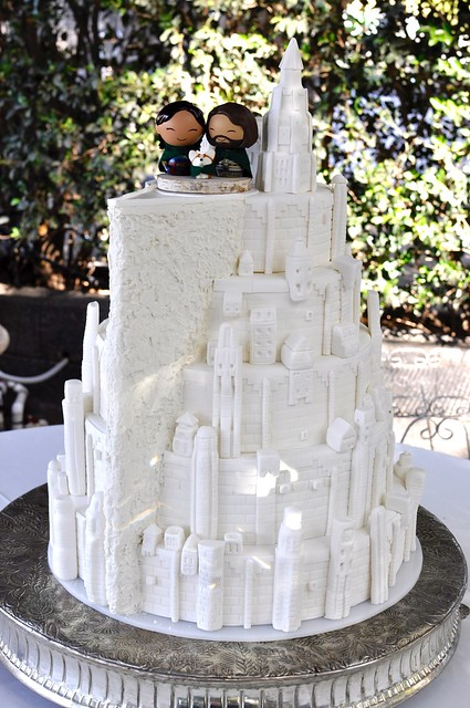 Flickr Jenny Wenny Minas Tirith Wedding Cake at Enchanted Forest