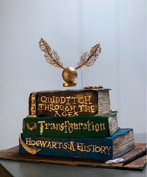 Instagram Kate Pritchett Levitating Quidditch Snitch Cake