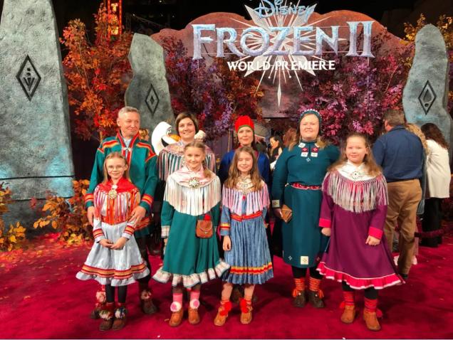 Yle Siv Eli Vuolab Samediggi Frozen II World Premiere