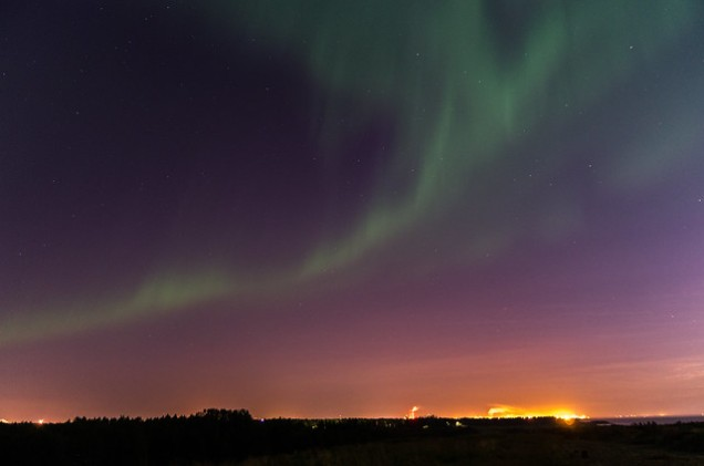 Flickr Juho Holmi Northern Lights over Oulu