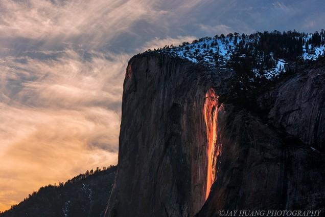 Flickr Jay Huang Firefall Yosemite National Park