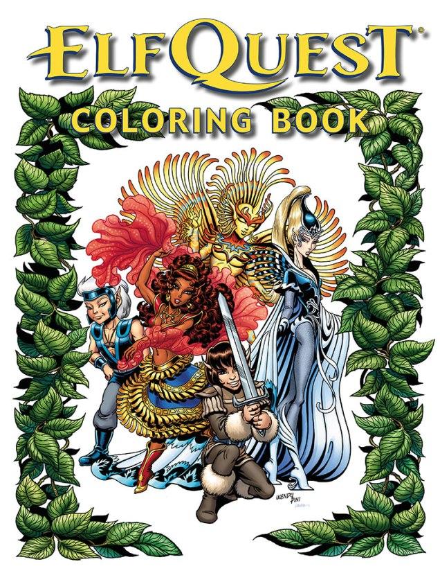 Wendy Richard Pini ElfQuest Coloring Book Covid-19 Version