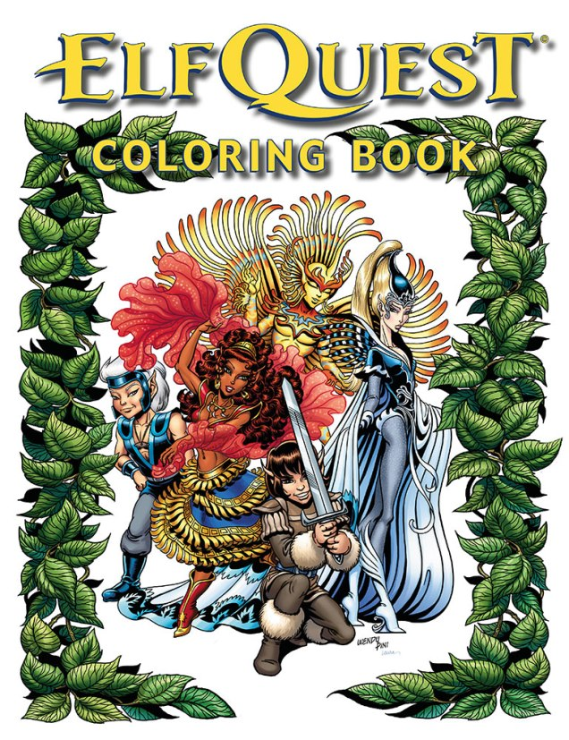 Wendy Richard Pini ElfQuest Coloring Book Covid-19 Version