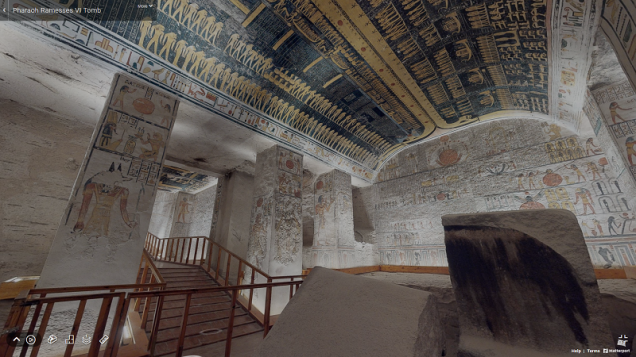 Matterport Ramesses VI Tomb KV9 Burial Chamber