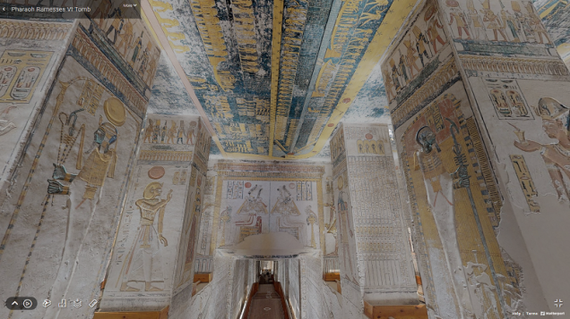 Matterport Ramesses VI Tomb KV9 Corridor
