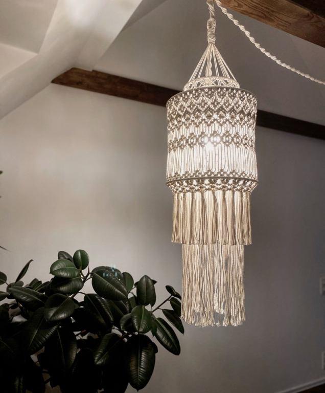 Etsy Irina Kharebava Macrame Lamp Shade