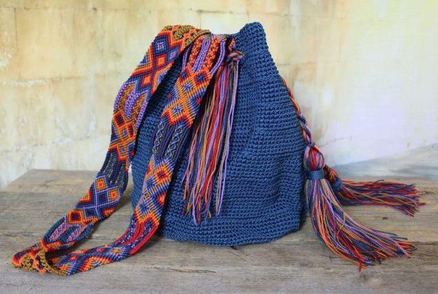 Pinterest Blue Macrame Bag