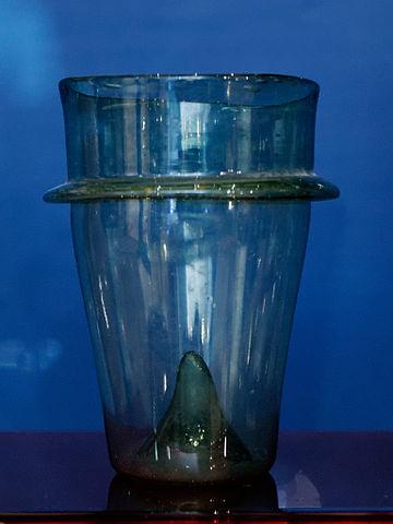 A Roman drinking glass